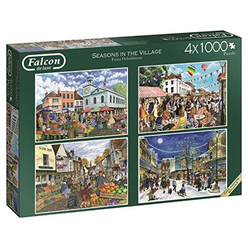 Jumbo 11226 Seasons in The Village 4x1000 Piece Jigsaw Puzzle