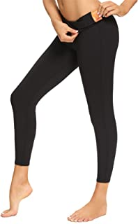 Women Yoga Sports Legging Solid High Waisted Full Length Pants for Workout Running