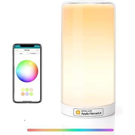 HomeKit Touch Bedside Table Lamp -Meross LED Night Light Compatible with Alexa, Google Assistant, HomeKit Dimmable Multicolour Light for Bedroom Best Present for Men Women Teens Children Kids
