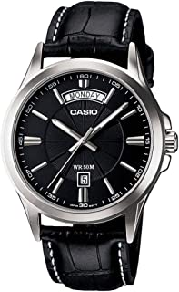 Casio Men's Analog Dial Leather Band Watch - Mtp-1381L-1Avdf