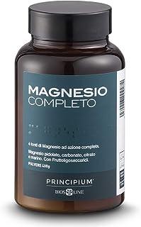 BIOS LINE Principium, Magnesio completo, Gusto agrumi, 4 fonti di magnesio ad azione completa, Integratore anti stress, Se...