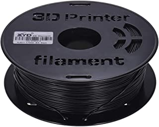 Goofly 1KG/ Spool 1.75mm Flexible TPU Filament Printing Material Supplies White, Black, Transparent for 3D Printer Drawing...