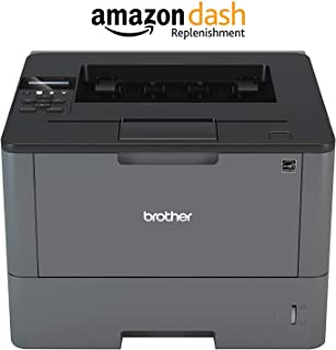 Brother Monochrome Laser Printer, HL-L6200DW, Wireless Networking, Mobile Printing, Duplex Printing, Large Paper Capacity, Amazon Dash Replenishment Enabled (Renewed)