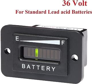 36V Volt LED Battery Meter Indicator Gauge Status Level Tester Charge Discharge for EZGO Yamaha Club Car Golf Cart Forklift Car Scooter Motorcycle (36V-Lead-acid Batteries)