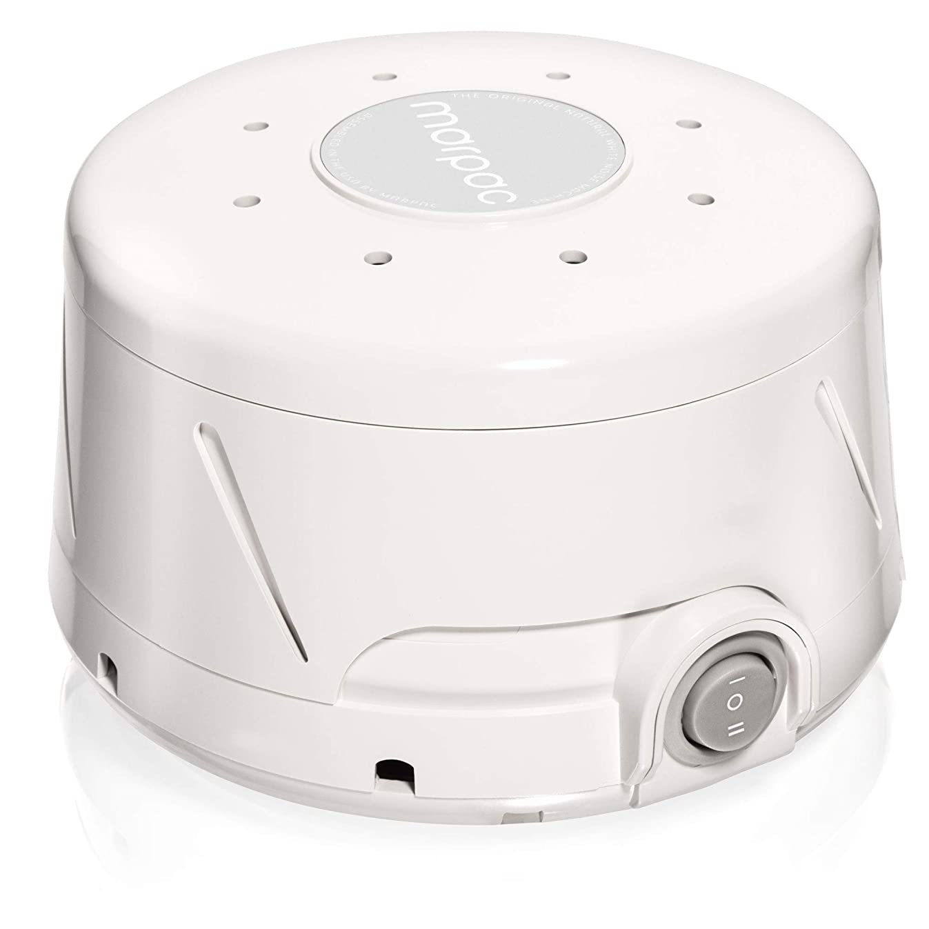 Marpac Dohm Classic (White) | White noise machine | 101 Night Trial & 1 Year Warranty | Soothing sounds from a real fan helps cancel noise while you sleep | For adults & children