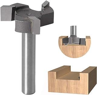 Fräs 1/4 tum CNC Spoilboard Surfacing router bit T form trä fräs skaft hårdmetall spets mudfräs 2,5 cm skärdiameter hyvel ...
