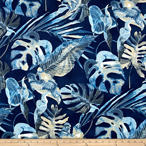 Tommy Bahama Home Falling Fronds Basketweave Fabric by The Yard, Night Swim