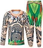 AmzBarley Schlafanzug für Jungen Moana Maui Kostum Kinder Nachthemd Jungen Schlafanzuge Pyjama Nachtwasche Halloween Cosplay Set