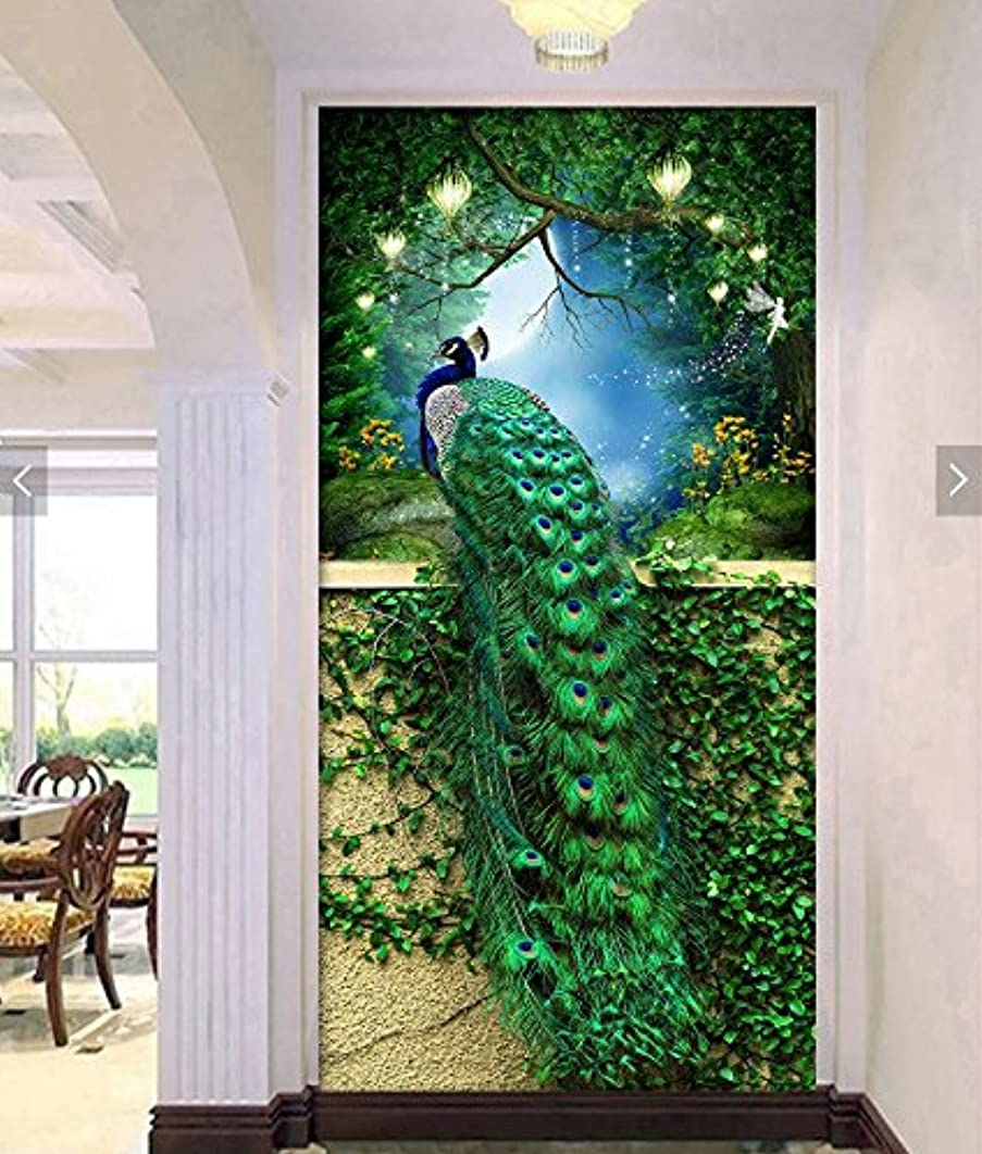 Faraway Peacock Diamond Painting 5D Diamond Kits for Adults Kids Paint by Diamond Kits Animal Full Drill Diamond dotz for Home Wall Decor 40x60cm (Green)
