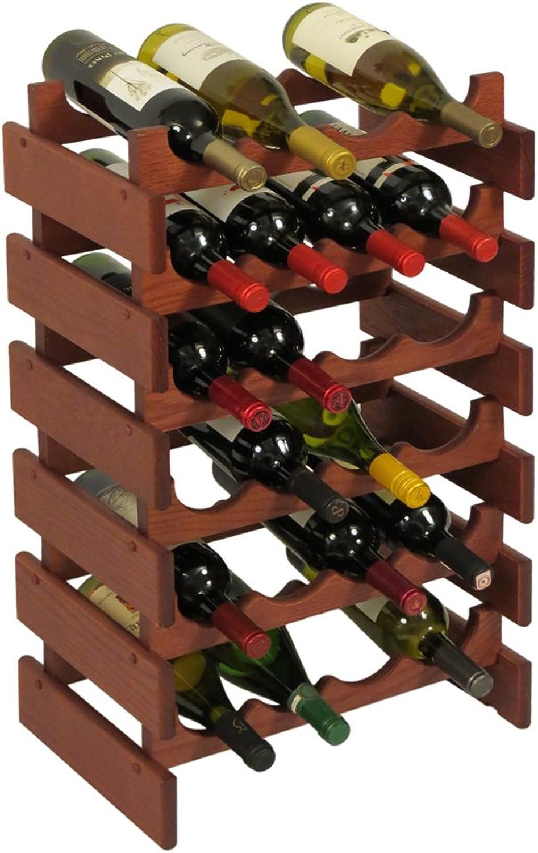 Wooden Mallet 21-Bottle Dakota Wine Rack 24 Bottle Mahogany