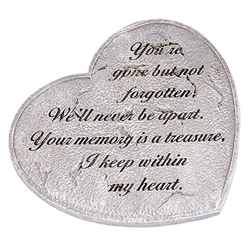 Roman You are Gone But Not Forgotten Heart Garden Stepping Stone 11 Inch