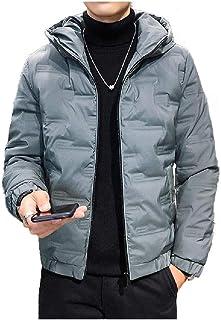 HEFASDM Men's Fall Winter Thickened Fleece Parka Jackets Fit Short Jacket