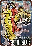 CDecor Visit Vietnam Saigon Blechschilder, Metall Poster,