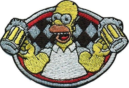 Bier Homer Simpson Oktoberfest Wappen Bierzelt Biker Aufnäher Abzeichen Patch