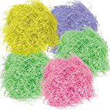 Gift Boutique 567 g 20 oz Multi Color Easter Grass Pink Yellow Purple and 2 Green Bags for Baskets Egg Fillers for Spring Party Crafts Supplies Accessories Decorations