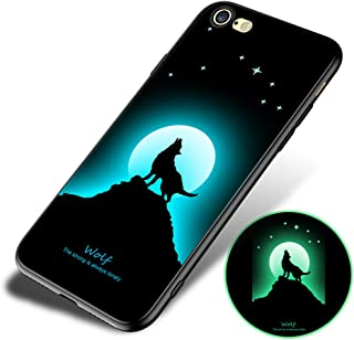 iPhone 6 Plus/iPhone 6s Plus Fluorescence Case, ACMBO Slim-fit Luminous Soft TPU Shockproof Anti-Scratch No-Fade Protective Bumper Phone Cases Cover for Apple iPhone 6s Plus /6 Plus 5.5 inch,Wolf