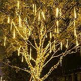 NA Christmas Meteor Shower Lights, Rain Drop Lights 8 Tube 11.81 Inch 192 LED Snowfall Led...