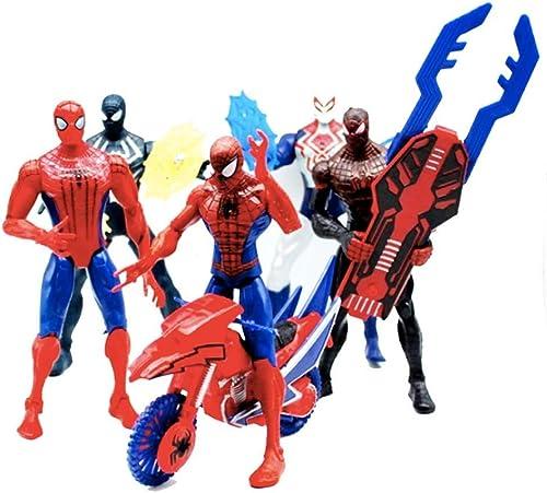FHMHJH Spider-Man-Spielzeugmodell, Surprise Avengers 3 Au gew liches Spider-Man-Set 5 Actionfiguren 6 Zoll Hoch Ca. 17 cm