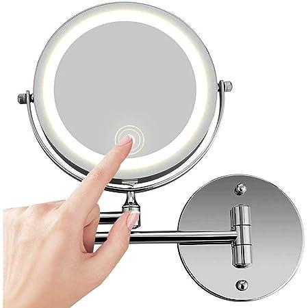 Schmink Spiegel mit LED Beleuchtung Kosmetik Licht beleuchtet 10 fach B-Ware