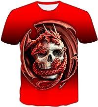 XIAOBAOZITXU 3D Digitale Print T-Shirt Zomer Manne...