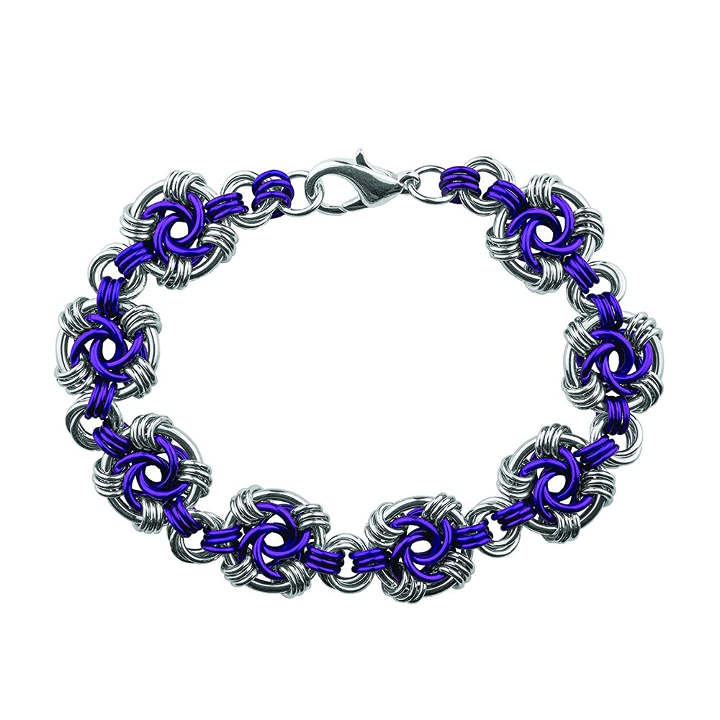 Weave Got Maille Lilac Swirls Chain Maille Bracelet Kit