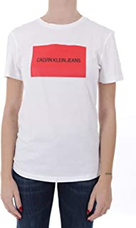 Calvin Klein Women's 2724701607-White T-Shirts