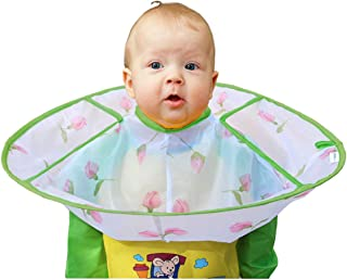 CCbeauty Children Barber Cape for Toddler Haircut Umbrella Hair Catcher Styling Cutting Cape