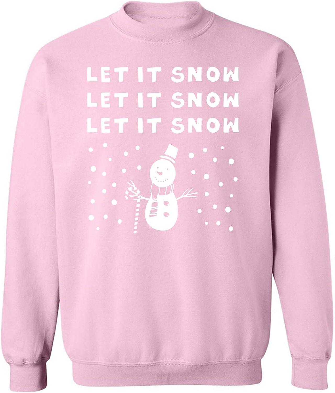 LET IT Snow Snowman Crewneck Sweatshirt