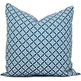 Ol322ay Schumacher Blue Serendipity - Funda de almohada decorativa (18 x 18 cm), color azul