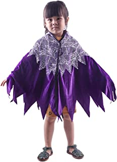 Samtree Halloween Christmas Costumes Cape for Kids, Unisex Velvet Lace Cosplay Party Cloak