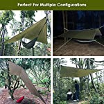 Hammock Rain Fly Tent Tarp Provides Effective Protection Against Rain, Snow. 32ft Long Ridgeline. Big 9.8x9.5ft Durable…