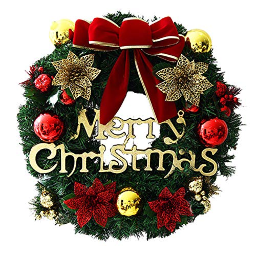 Flower wreath, door wreath, decorative wreath, nature, wreathMerry Christmas Party Poinsettia Wreath Door Wall Garland Decoration