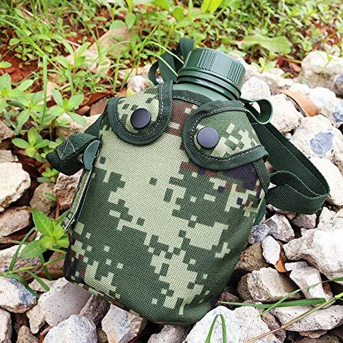 Military Use Robust Plastic Patrol Water Bottle Feldflasche 1 Liter Inkl. Trinkbecher (Kochbehälter) Aus Aluminium, Alu Travel Bottle Stofftasche Für Wandern Radfahren Laufen Camping