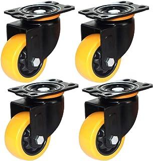 4 Caster wielen 3''/4''/5'',Swivel wiel met remmen,Polyurethaan zwenkwielen,Industriële wielen voor kleine karretjes en zw...