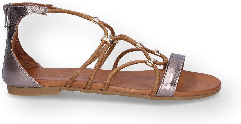 Inuovo Damen 7386BRONZE Bronze Leder Sandalen