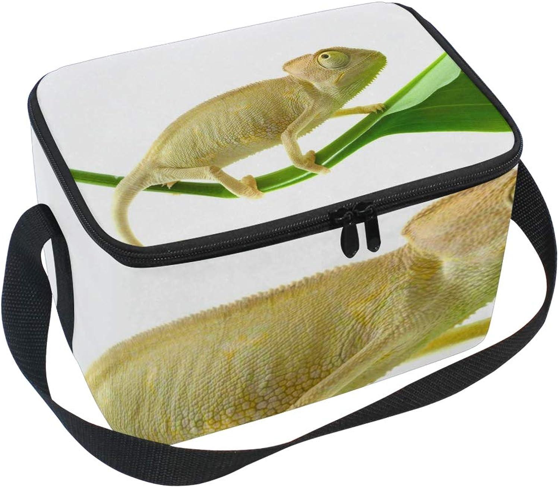 Lunch Bag chameleon Flower Kühler für Picknick Schultergurt Schultergurt Schultergurt Lunchbox B07GH83J84  Bestätigungsfeedback e3bc90