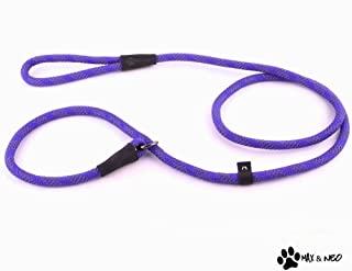 Max and Neo Rope Slip Lead Reflective 5 Foot - We Donate a Leash to a Dog Rescue for Every Leash Sold