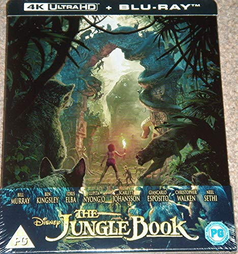 The Jungle Book 4K Ultra HD Limited Edition Steelbook / Import / Includes Blu Ray / REGION FREE