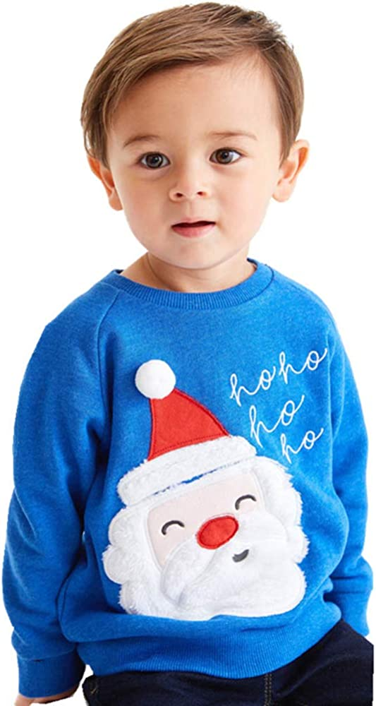 EULLA Sweat-shirt unisexe avec motifs /Élan en tissu polaire coton Taille 92//98//104//110//116//122