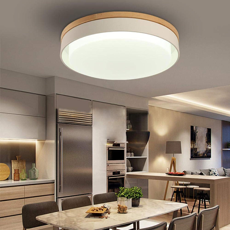 Led Deckenleuchte, Lampe Deckenleuchte Runde Wohnzimmer Einfache Studie Birne 18W Wei