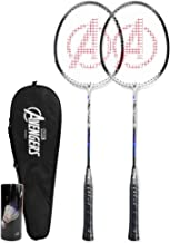 Joerex Badminton Racquet MARVEL BLACK PANTHER By Hirmoz - Aluminium Alloy, 2 Racquet with cover Bag + 3 Pieces Shuttlecock...