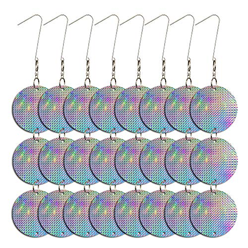 Holographic Reflective Scare Discs for Birds, Keep Birds Away, 24 Round Disks