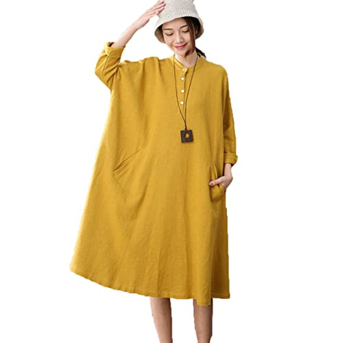 3beea409e9800 FantasyLinen Linen Casual Dress For Womens