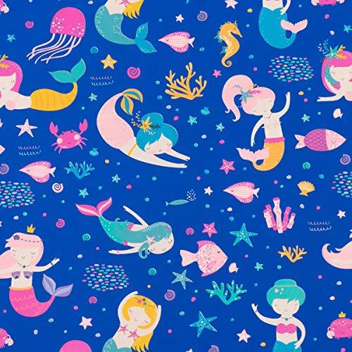 Geschenkpapier Kinder 70cm x 2m Rolle Meerjungfrauen