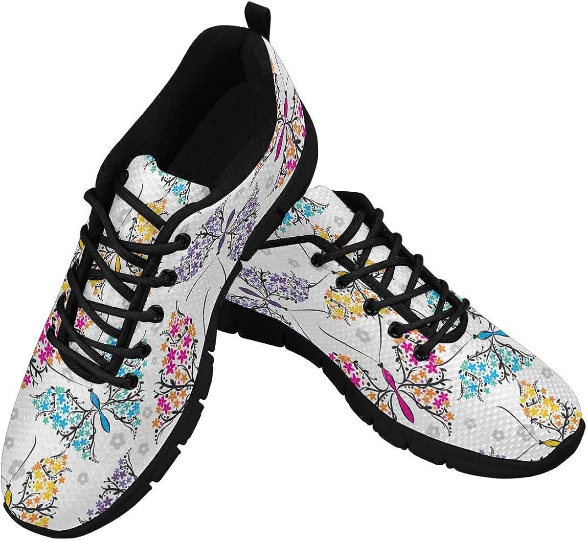 INTERESTPRINT Beautiful Butterflies Women's Athletic Walking Shoes Casual Mesh Comfortable Work Sneakers