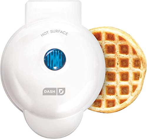 Dash DMW001WH Mini Maker for Individual Waffles, Hash Browns, Keto Chaffles with Easy to Clean, Non-Stick Surfaces, 4...