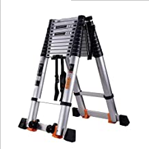 Ladder Telescoping Ladder Flip-N-Lite Heavy Duty Rating Stepladder with Platform Decoration Extension Tall Multi Purpose (Size : 3.1m(10ft))