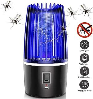 Jieer Lámpara Antimosquitos, USB Lámpara Eléctrica Repelente de Mosquitos Descarga Eléctrica Asesino de Insectos Seguro para Bebés Mujeres Embarazadas Hogar Interior Dormitorio Cocina Uso