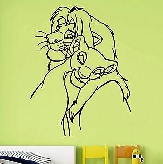 Lion King Autocollant Mural Stickers Roi Lion D/écalque De Dessins Anim/és Vinyle Autocollant Simba Nursery Wall Decor Enfants Chambre De B/éb/é Mur Art Wall Personnalis/é Enfants