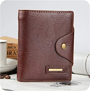 New short men's wallet leather qualitty guarantee purse for male,Vertical coffee
